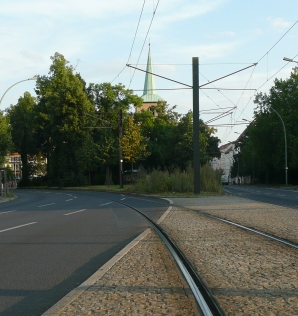 View down the Tracks to Loeper Platz 1